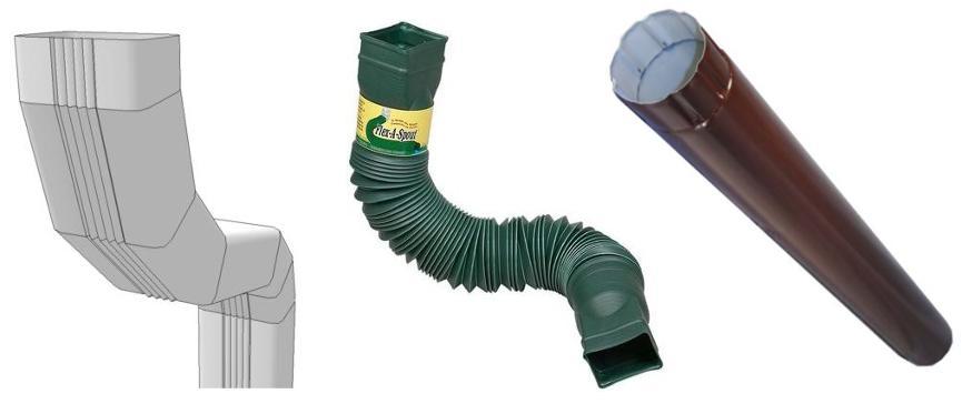 Желоб водосточный из подручных материалов