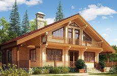 Современные деревянные дома из бруса в стиле модерн
