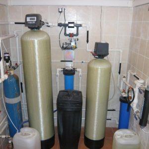 Весь комплекс очистки воды для загородного дома