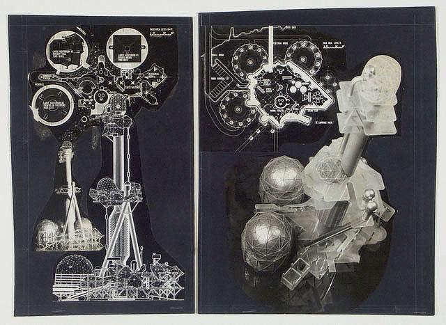Многие проекты группы Archigram направлены на концептуальное изучение идей виртуальной реальности и создания симулированного окружения (Room of 1000 Delights, Enviro-pill, 1970), отстаивая идею о том, что возможности разума способны превосходить любые ограничения окружения. (Фото: http://archigram.westminster.ac.uk)