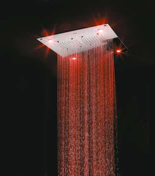 CALEIDOS представили душевую панель с подсветкой — модный тренд, который используется большинством производителей смесителей.