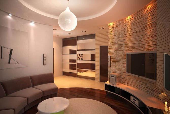 Отделка квартиры с двумя комнатами