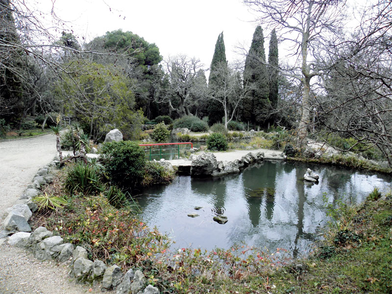Мостик над озером в «Райском уголке»