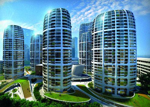 Башни будущего городского центра Братиславы (Фото: Zaha Hadid Architects)