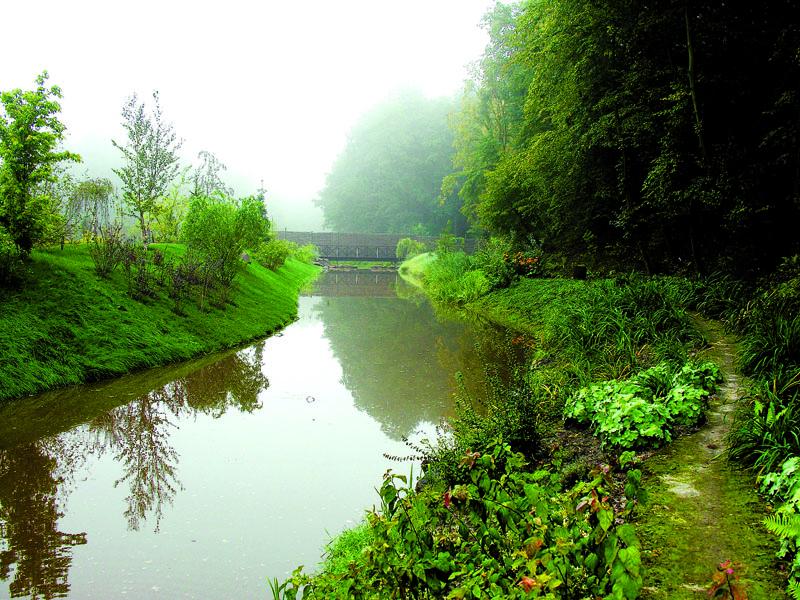 Река на участке