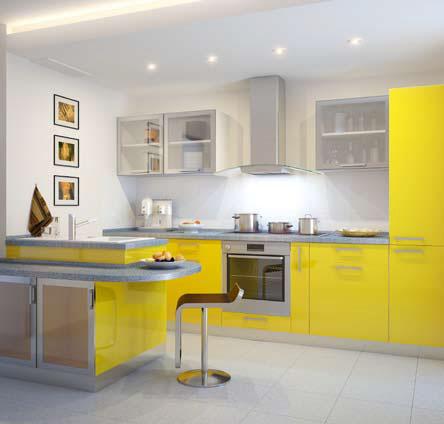 Каменные поверхности на кухне