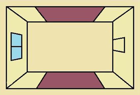 Вертикальное симметричное чередование полос