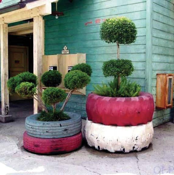 Креативный садовый декор