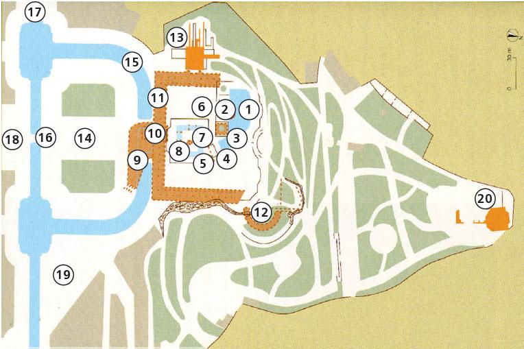 Карта святилища джерела