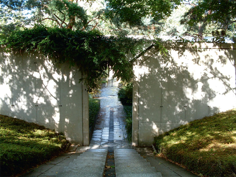 Черный сад в Парке Андре Ситроен (Франция)