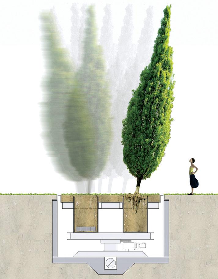 Устройство кинетического сада