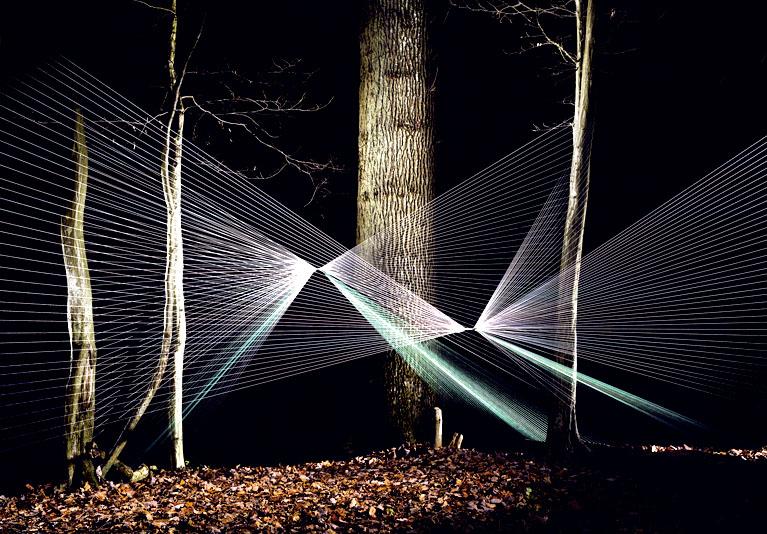 Инсталляция «Паутина» от французского дизайнера Sébastien Preschoux