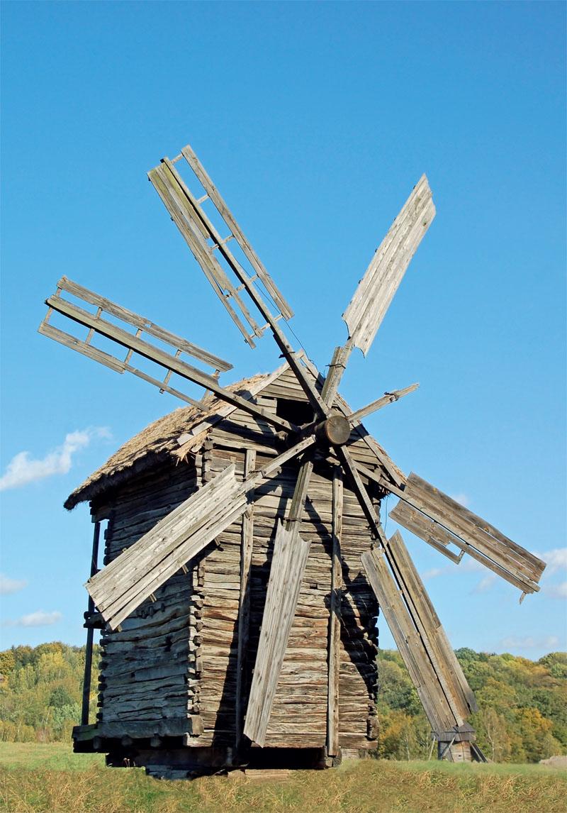 Ветряные мельницы — центральная точка экспозиции архитерктурно- ландшафтного комплекса, которая раскинулась на самом высоком холме