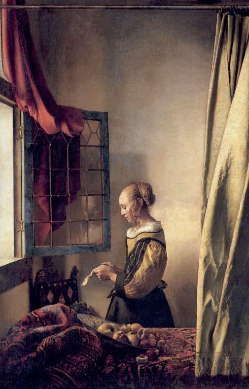 Девушка, читающая письмо у открытого окна, Ян Вермер, 1657