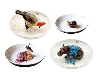 Предметы от Хеллы Йонгериус. Нимфенбург, «Чаши с животными»