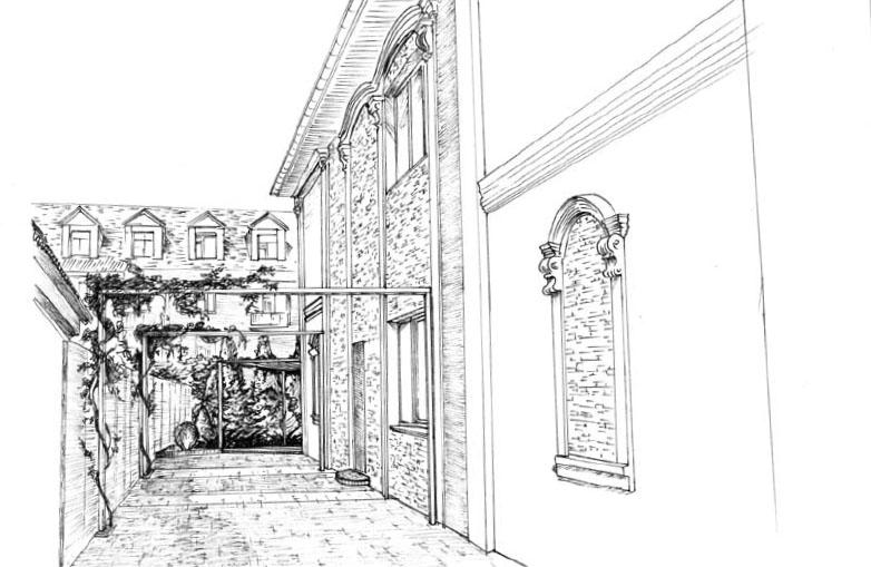Проектирование от руки в технике карандаш (Рисунок А. Зубарева)
