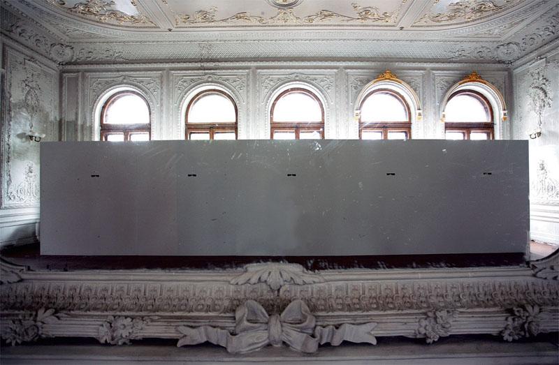 Інсталяція Тараса Полатайко «Scotoma» (2008 р.) в центральній залі Шоколадного будинку