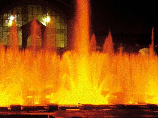 Прага: танцующий фонтан