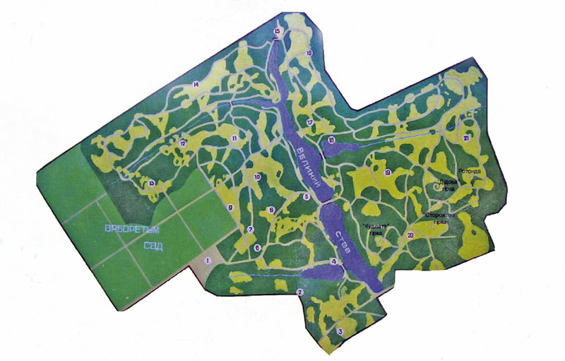 План-схема парка