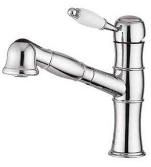 2. Смеситель для кухни ТМ Emmevi Rubinetterie, код CR40065. Смеситель сочетает в себе элегантность и функциональность. Выдвижная лейка позволит быстро наполнить водой любую емкость.