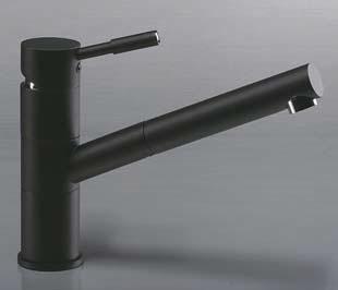 5. VEGANE NERO – 2451670 смеситель кухонный с изливом-душевая лейка