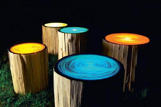 Пеньки-светильники