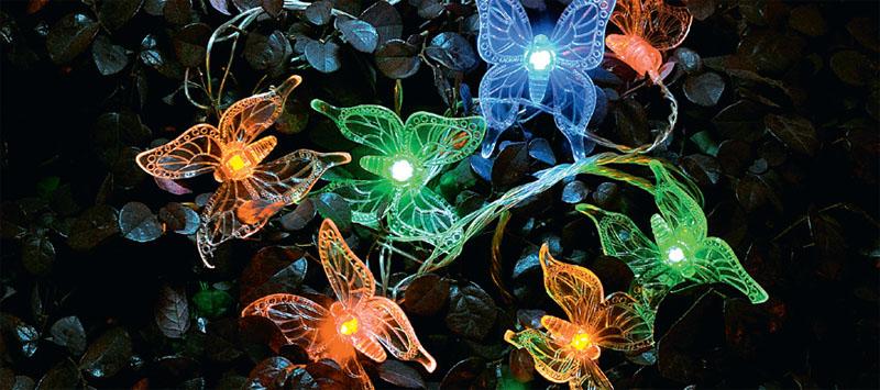 Садовый светильник-гирлянда