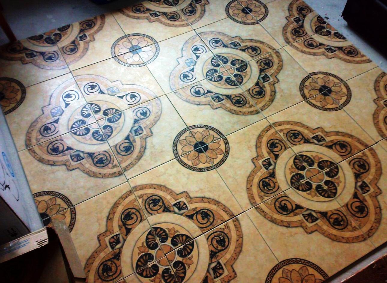 Пол из керамической плитки