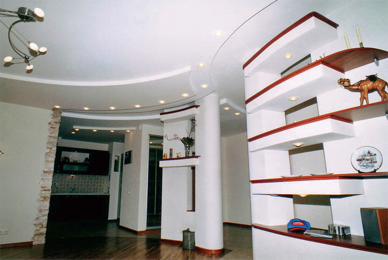 Белый цвет отлично подчеркивает стиль интерьера. (Киевский Лакокрасочный Завод)