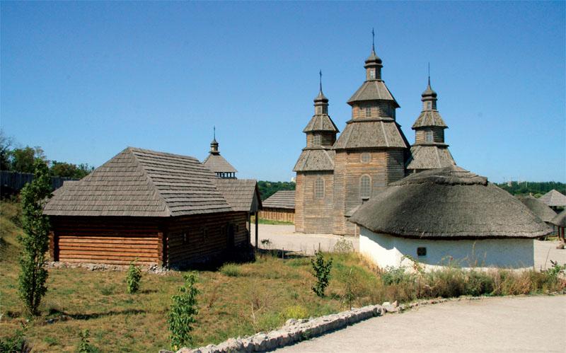Историко-культурный комплекс «Запорожская Сечь» (Фото: Оксана Темная, Национальный заповедник «Хортица»)