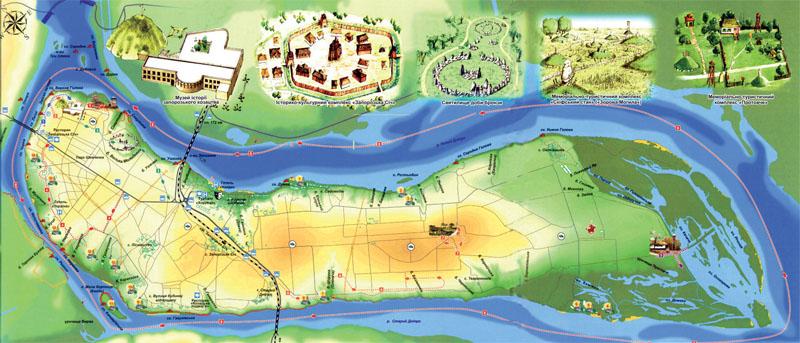 План-схема острова (Фото: Оксана Темная, Национальный заповедник «Хортица»)