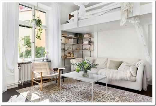 Уютный интерьер в маленькой квартире