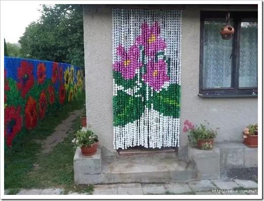 Воздушные занавески для сада и объёмные композиции