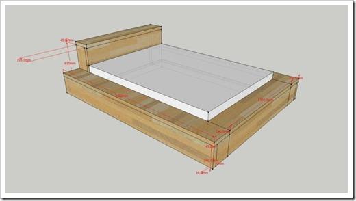 Отделка двуспальной кровати