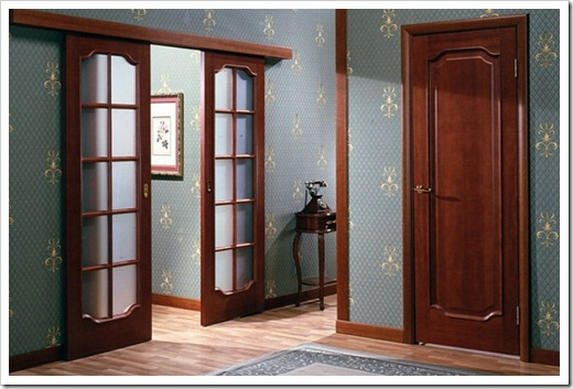Применяемые материалы в межкомнатных дверях