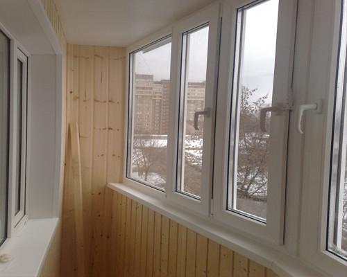 теплое остекленение балкона
