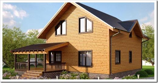 Преимущества дачных домов из бруса