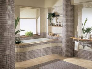 Интерьер в ванной комнате