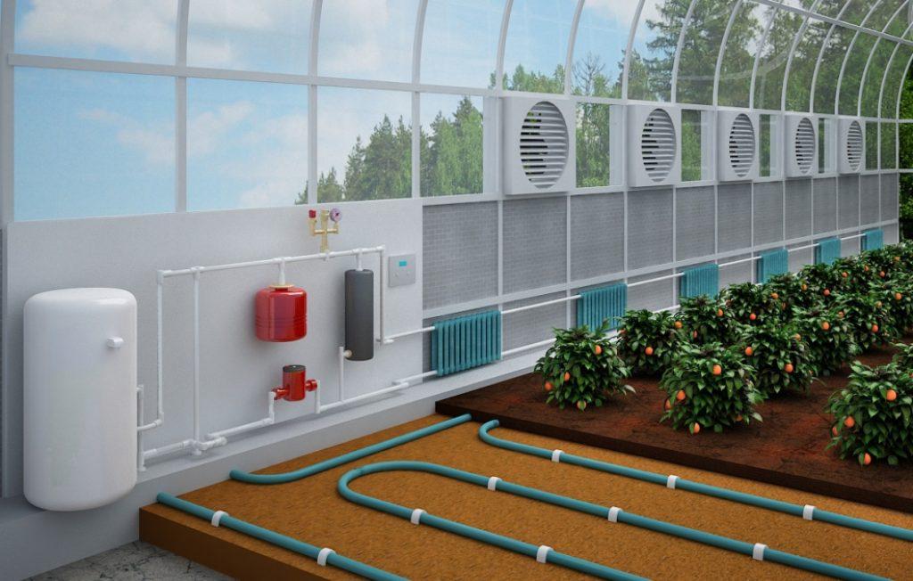 электрический подпочвенный обогрев теплицы
