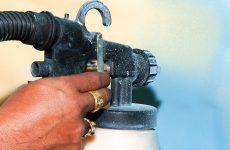 Оборудование для покраски и побелки. Пневматический инструмент краскопульт
