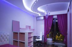 Преимущества парящей подсветки в натяжном потолке