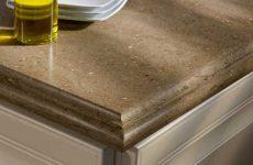 Торцы подоконников, рабочих поверхностей – кромка столешницы из искусственного камня