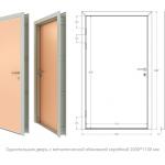 Двери в металлической коробке