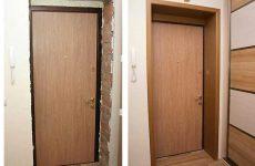 Как сделать обналичку входной двери своими руками